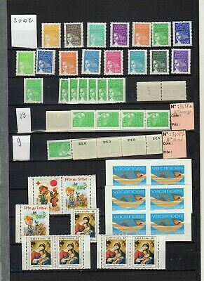 EB505 - France 2002 LOT  timbres neufs (114) pour collection ou affranchissement