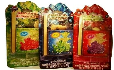 science by me growing crystals kit educational kids toy watch them grow & learn