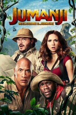 Jumanji: Welcome to the Jungle (DVD, 2017), preowned great condition