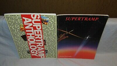 SUPERTRAMP X2 songbook, Notenbuch, Partition FAMOUS LAST WORDS + ANTHOLOGY rare