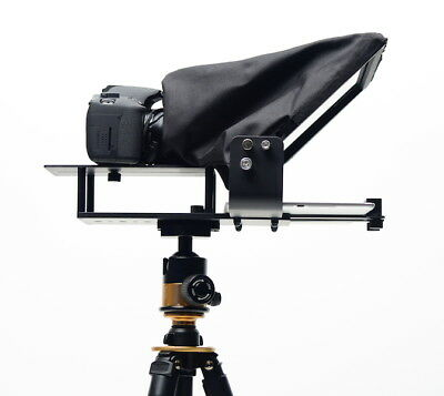 Video Camera Tablet iPad DSLR Teleprompter Glide Gear TMP 100 for Tripod