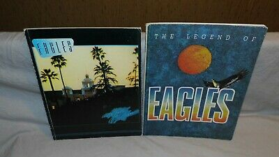 EAGLES X2 songbook, Notenbuch, Partition HOTEL CALIFORNIA + THE LEGEND OF rare