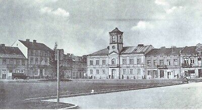 Der Rathausplatz in Turek (Wartheland) 1938
