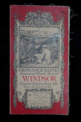 ORDNANCE SURVEY Map WINDSOR Popular Edition - Sheet 114 - 1923