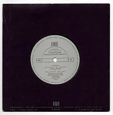 """OMD (Orchestral Manoeuvres in The Dark) - Souvenir - 1981 UK 7"""" Single"""