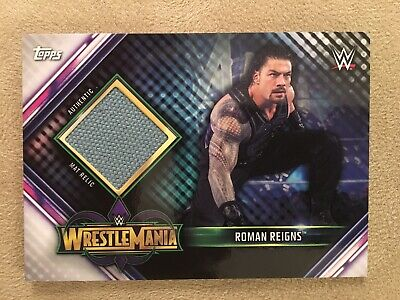 2019 WWE Topps Champions Roman Reigns RING MAT RELIC Wrestlemania MR-RR
