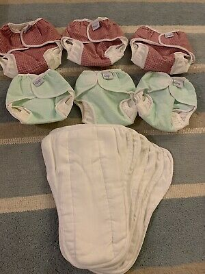 Cloth Reusable Washable Cotton Nappy Nappies Starter Kit Prefold Terry