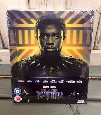 Zavvi- Marvel Limited Edition Lenticular Steelbook- BLACK PANTHER- Blu-ray 3D