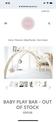Bella Buttercup Scandinavian Play Bar RRP $295. Currently Sold Out.