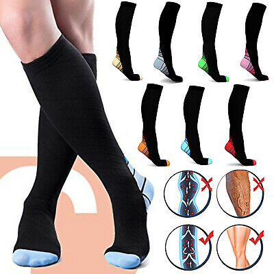A Pair Compression Socks Medical Travel Running Flight Sleeve Anti Fatigue Afq