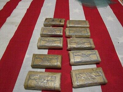 WW2 US Army 1943 dated bandage lot first aid medic wax coated lot of 10