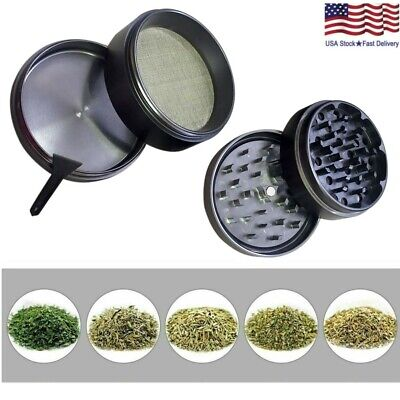 Aluminum 2.5 Inch 4 Piece Magnetic Tobacco Spice Herb Grinder Crusher With Scoop