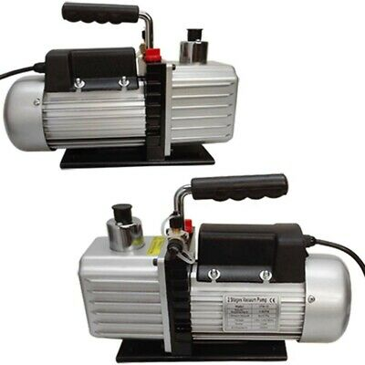 2 Stage Electric Refrigerant 2.5CFM VACUUM PUMP HVAC 1/3HP Pumping System