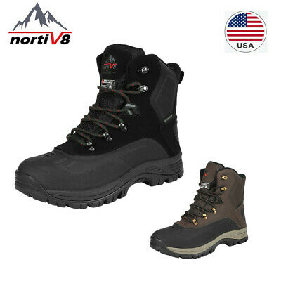 NORTIV 8 Mens Snow Boots Insulated Waterproof Outdoor Hiking Winter Ankle Boots