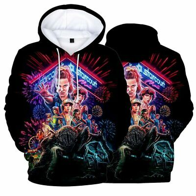Stranger Things 3D Print Tops Pullover Hoodie Cotton Blended Jumper Sweatshirt K