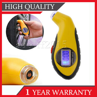 Digital LCD Tyre Air Pressure Gauge Tester Tool For Auto Car Motorcycle Van UK