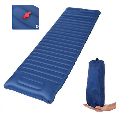 Self Inflating Camping Roll Mat Pad Inflatable Pillow Bed Sleeping Mat+Bag Cr