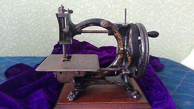 Antique Shakespear Singer Sewing Machine On Wood Plaque - Needs Restoring