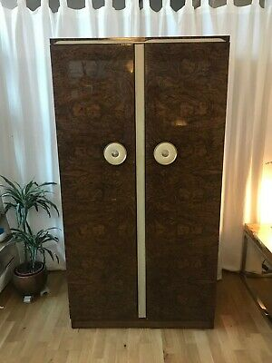 Stunning Vintage Retro 70s 'Beautility' Gloss Single Wardrobe