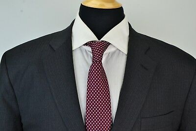 Brooks Brothers Gray Striped Custom Tailored Wool 2 Pc Suit Jacket Pants 44R