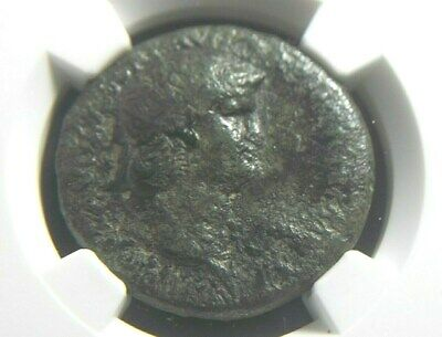 Authentic AE Dupondius of Roman Emperor Nero, NGC Certified 3025