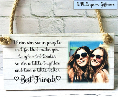 PERSONALISED photo FRIENDSHIP GIFT for BEST FRIEND plaque sign custom quote text