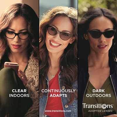 Transitions 1.5 HMC Pristine lenses with or without prescription