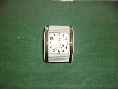 Vintage 1940's Westclox Rolltop Traveling Alarm Clock Wind Up - Made in USA