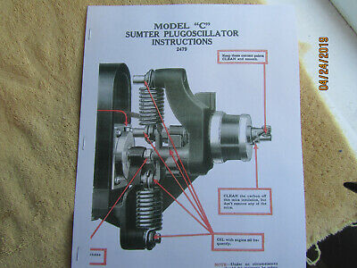 1917 Color Sumter Model C Magneto Instruction Manual Fairbanks Morse Engines