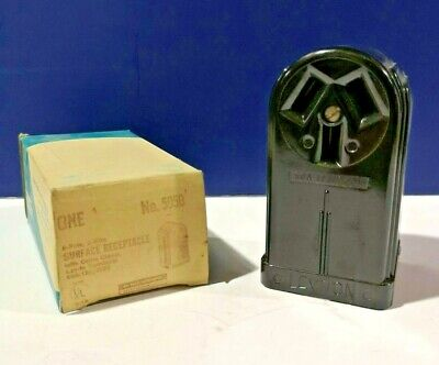 Leviton Black Range Receptacle Surface Mounting 3-Wire 50A 125/250V 5050 NEW!