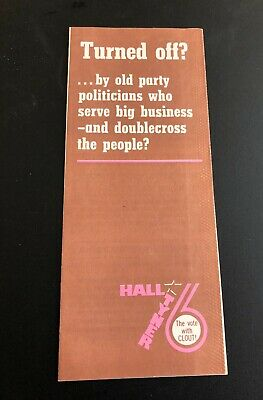 1976 Communist Party presidential campaign brochure Gus Hall