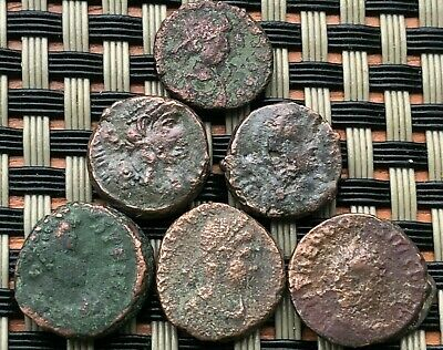 Lot Of 6 Ancient Roman Imperial Bronze Coins Ae4 In Very Good Quality