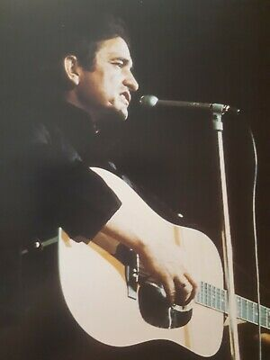 Johnny Cash Photo Print 8 x 10, performance, stage photo, singing, collectible