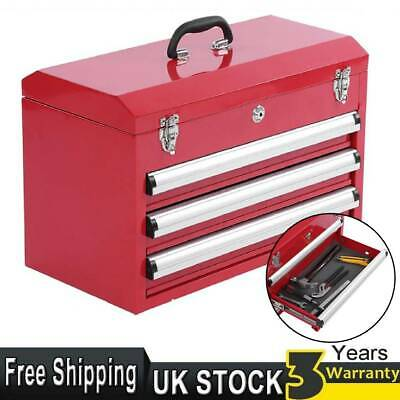 Lockable Parts Chest Tools Box DIY Compartment Storage Toolbox Handle 4 Drawers