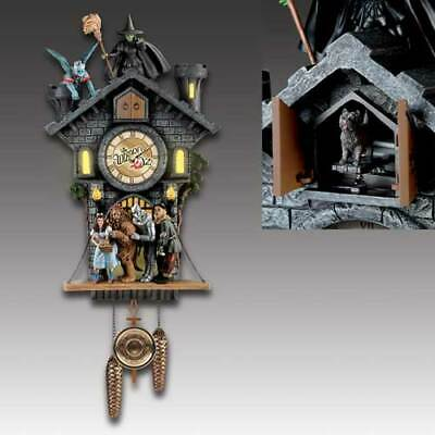 WIZARD OF OZ CUCKOO HOURGLASS QUARTZ WALL CLOCK Tin Man Scarecrow Dorothy Lion