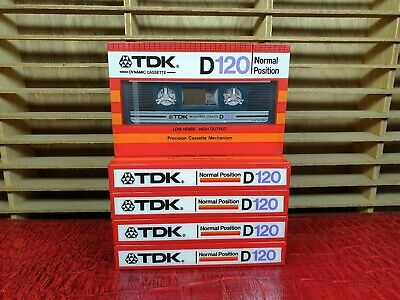 Tdk D120 (×5) : 1982 : Made In Japan : New & Sealed