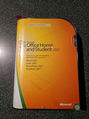 Microsoft Office 2007 Home and Student GENUINE Retail 3-User for Windows