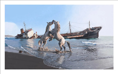 """Josh Keyes """"I'LL LOVE YOU TILL THE END OF THE WORLD"""" Giclee Print"""