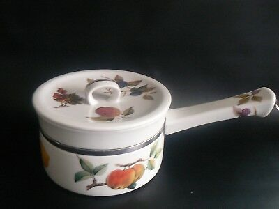ROYAL WORCESTER Small Porcelain Pan Fruits Pattern