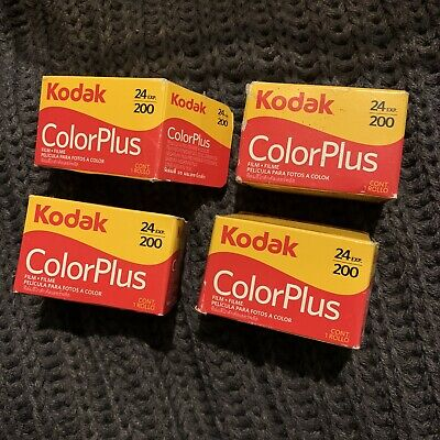 Kodak Color Plus Film 200 35mm. 24 Exposure. Four Rolls Expired July 2014