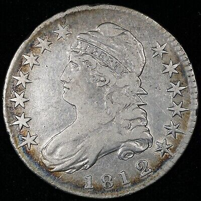 1812/1 Capped Bust Half Dollar Small 8