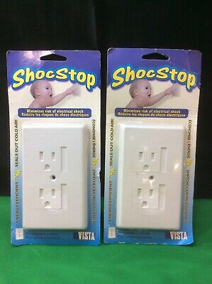 ShocStop Baby Safety White Decora Outlet Cover 10-pack