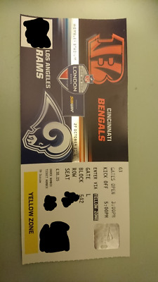 Cincinnati Bengals Vs Los Angeles Rams Ticket NFL UK Wembley