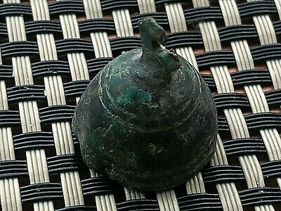 "Ancient Celtic Bronze Proto Money ""Bell"" Circa 400 Bc Very Rare And Scarce"