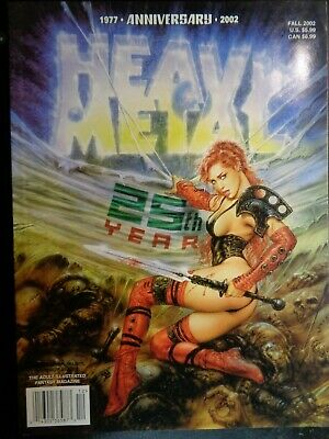 HEAVY METAL MAGAZINE  25th Anniversay issue  2002  Luis Royo Cover!