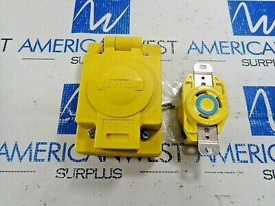 Leviton 69W48 Locking Receptacle L6-30A With Wetguard Ip 66 Cover 30A 250V