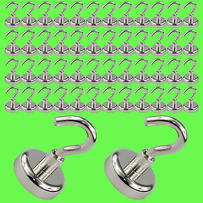 (50 Pcs) Magnetic Hook Neodymium Ø 10 mm Pot Magnet/Strong Holding Strength