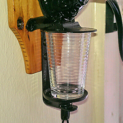 Antique Coffee Grinder Glass Catch Cup for Arcade, Golden Rule & Other