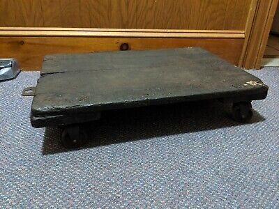 Antique Small Factory Industrial Cart - 24x16x5