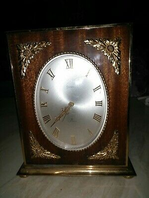 Vintage Swiza 7 Jewels Brass Clock.